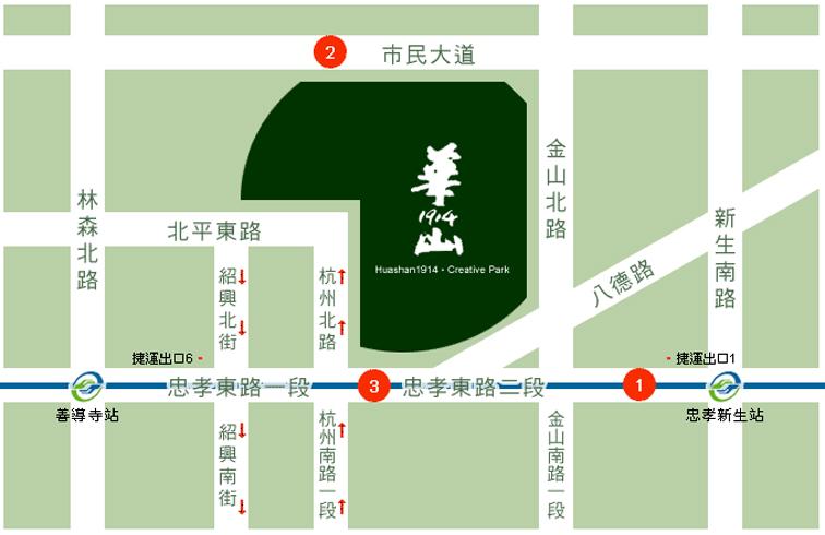 交童位置_華山地圖